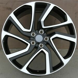 New 4 22 22x9 5 Wheels 5x120 Black Machined Fits Range Rover Sport Supercharge