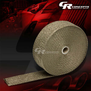 Titanium Exhaust Header Turbo Manifold Heat Insulation Tape Wrap 2 x 1 16 x 600