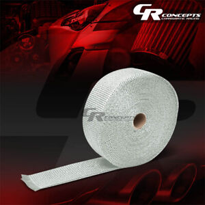 T1 White Exhaust Header Turbo Manifold Heat Insulation Tape Wrap 2 x 1 16 x 404