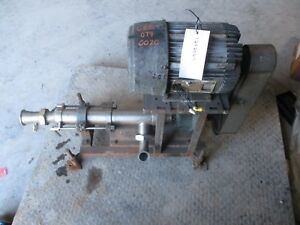 Moyno Stainless Pump With Motor Port 2 3 4 124206c used