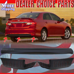 For 2011 12 2013 Toyota Corolla Factory Style 3pc Rear Bumper Chins Lip Body Kit