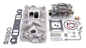 2021 Edelbrock Manifold And Carb Kit Performer Eps Small Block Chevrolet