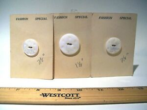 Antique Mother Of Pearl Nos Buttons Carved Cat S Eye Sizes 1 1 8