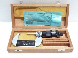 Brown Sharpe 25 Mm To 50 Mm Micrometer Model 20 110 Swiss Made