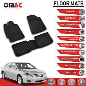 Floor Mats Liner 3d Molded Black Fits Set For Toyota Camry 2007 2011