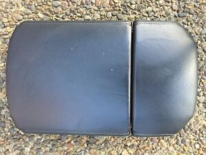 2003 2009 Toyota 4runner Black Console Lid Arm Rest Oem Stitched Leather