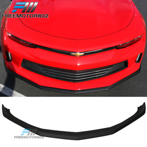 Fit 16 18 Chevy Camaro Lt Convertible Coupe Oe Style Front Bumper Lip Unpainted