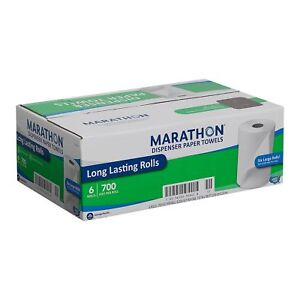Marathon Dispenser Roll Paper Towels 700ft 6 Rolls Free Shipping new