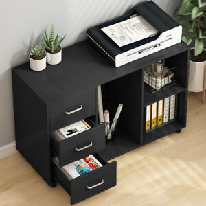 Open Storage Shelves For Home Office Study Bedroom 3 Drawer Wood File Cabinets