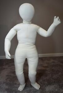 Child Mannequin Full Body Posable Cloth 36 Tag Dated 1973 Badsf Vintage 70 s