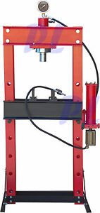 30 Ton Air Hydraulic Manual Floor Shop Press W 1 Yr Warranty free Shipping