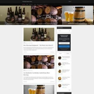 Home Brewing Store Online Business Website For Sale Make Money Domain