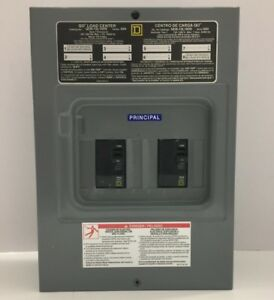 Square D Main Lug Load Center 100 Amp 12 Circuit Indoor W Circuit Breaker 25 35