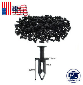 100 x ATV Fender Clips Push Retainer Fasteners Fit  # 21030249 Ford # N807389S