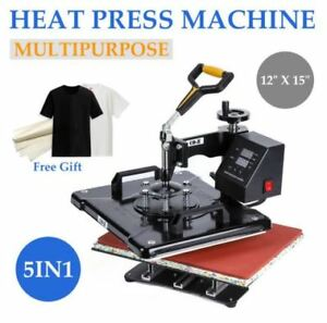 Domestic Heat Press 5 In 1 12 X 15 With 350 Degrees Max