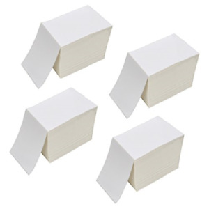 Ryhampaper 4 X 6 Fanfold Direct Thermal Labels White Shipping Mailing Stacks