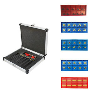 Replacement Inserts 7 Pc 3 8 Indexable Carbide Turning Tool Combo Set Sclcl