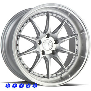 Aodhan Ds07 18 15 Silver Staggered Rims Wheels 5x4 5 99 04 Ford Mustang Cobra R