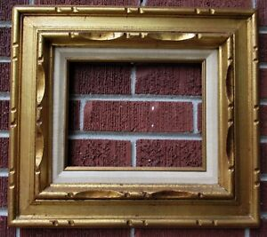 Vintage Mid Century Retro Gilt Gold Mexican Carved Frame C1970s 8 X10 In Fit