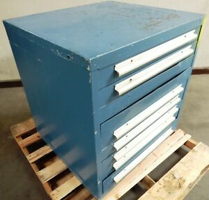 A150456 Equipto 9 drawer Tool Storage Cabinet 3 Industrial Tooling Cabinet