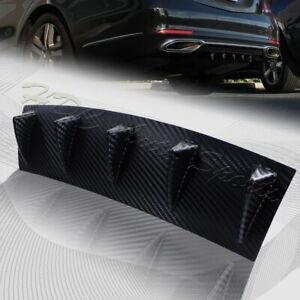 1 X Carbon Style Rear Lower Bumper Diffuser Fin Spoiler Lip Wing Splitter 23 X6
