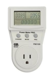 Economical 5 Digital Energy Usage Power Continuity Meter Monitor Lcd Screen