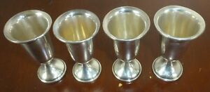Set Of 4 Vintage Sterling Silver Cordial Cups Towle 58 Style