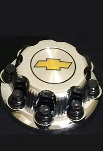 8 Lugs New Chevy Yellow Express Van 2500 3500 Chrome Replacement Center Hub Cap
