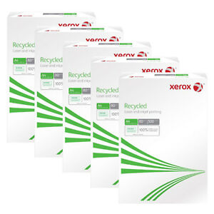 Xerox Recycled Laser And Inkjet Printer Paper A4 80gms 500 Sheets 5 Ream case