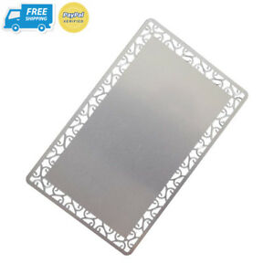 Retermit 100pcs Sublimation Metal Business Cards Laser Engraved Blanks