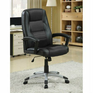 Coaster Furniture High Back Executive Office Chair Black Free Shipping No Tax