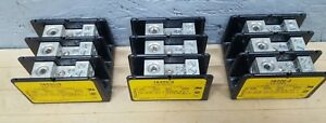 Lot Of 3 Bussmann 16220 3 Power Terminal Block 175amp 600v