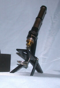 Antique Folding Microscope Bausch And Lomb Mdl 40