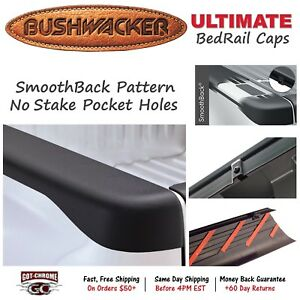 58511 Bushwacker Ultimate Black Bed Rail Caps Dodge Ram 8 Bed 2002 2008