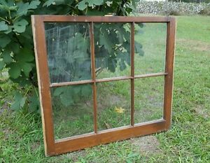Vintage Sash Antique Wood Window Picture Frame Pinterest Stained No Glass