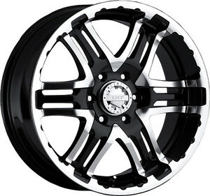 17x9 Gear Alloy 713mb Wheels Black Rims 5x127 10 Fits Older Chevy 5 Lug Trucks
