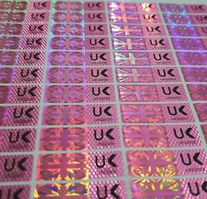 Warranty Void Tamper Proof Evident Labels Security Seal Stickers Numbered Uk