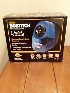 New Factory Boxed Bostitch Quiet Sharp 6 Electric Pencil Sharpener