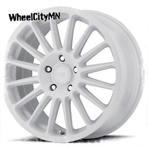 17 Inch White Motegi Racing Rims Mr141 Fits Volkswagen Golf Jetta Beetle 5x100