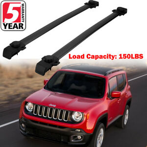 150lbs Aluminum Roof Rack Cross Bars Cargo Carrier For Jeep Renegade 2014 2018