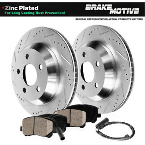 Rear Drill Slot Brake Rotors And Ceramic Pads For Mercedes Benz S430 S500 W220