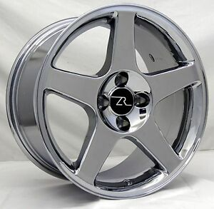 17 Chrome 03 Cobra Terminator Style Mustang Wheels 4 17x9 4x108 4x4 25 87 93