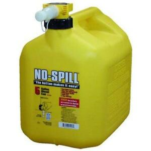 No spill 1457 Diesel Fuel Can With Thumb Button Control No Spill Spout 5 Gal