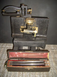 Antique Bausch And Lomb Microtome Laboratory Scientific Microscope Equipment