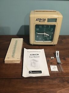 Acroprint Atr120 Time Clock W Cards Owners Manual Nice