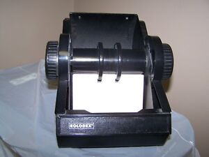 Black Rolodex Model 22540 With Lid And Dividers Made In Usa Blank Cards Included
