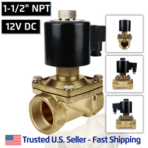 1 1 2 12 Volts Dc Normally Open Electric Brass Solenoid Valve 1 5 N o 12vdc