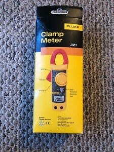 New In Box Fluke 321 Meter Carrying Case Manual And Test Leads