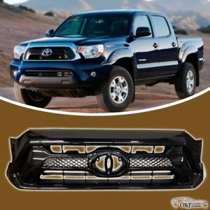 For 2012 2015 Toyota Tacoma Factory Style Grille Gloss Black Grill