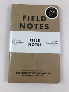 Field Notes tenth Anniversary Sealed 3 pack Notebooks Special Edition Rare